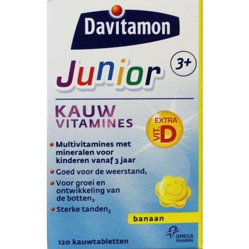 Davitamon Davitamon Junior 3+ kauwtabletten banaan (120kt)