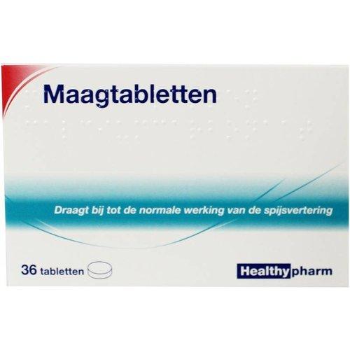 Healthypharm Maagtabletten calcium carbonaat (36tb)