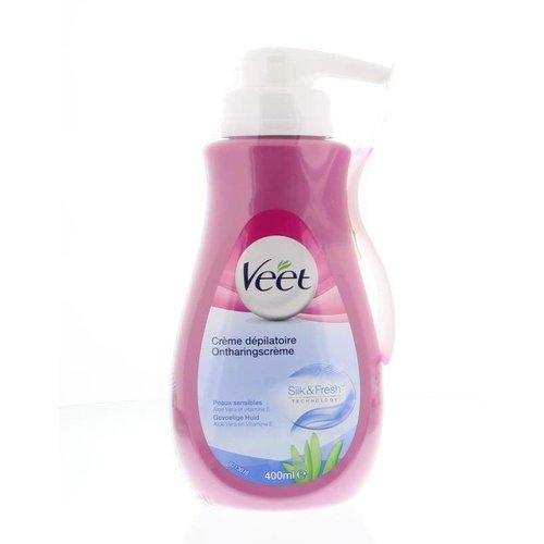Veet Veet Ontharingscreme gevoelige huid pomp (400ml)