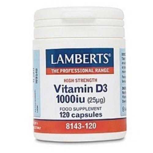 Lamberts Vitamine D3 (Cholecalciferol) 1000IE 25 mcg (120ca)