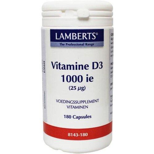 Lamberts Vitamine D3 (Cholecalciferol) 1000IE 25 mcg (180ca)