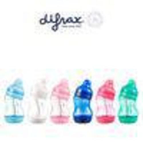 Difrax Difrax S-fles breed & klein 200 ml assorti (1st)
