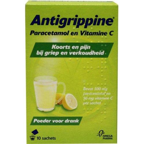 Antigrippine Paracetamol + vitamine C poeder (10st)