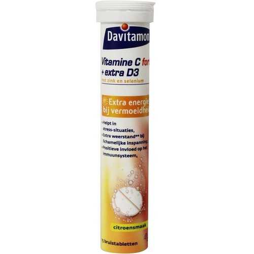 Davitamon Vitamine C & D3 bruistabletten (15brt)