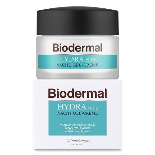 Biodermal Biodermal Hydraplus nacht gelcreme vochtarme huid (50ml)