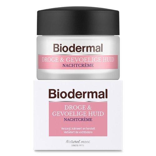 Biodermal Biodermal Nachtcreme droge en gevoelige huid (50ml)