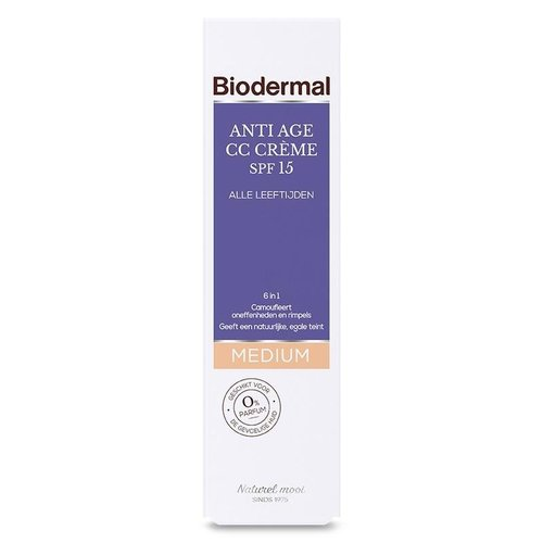Biodermal Biodermal CC Creme medium anti age (50ml)