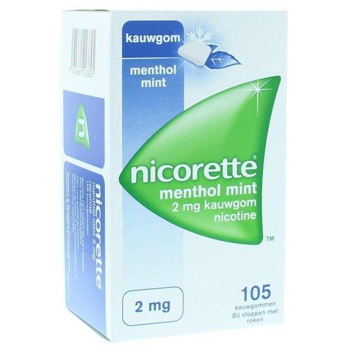 Nicorette Nicorette Kauwgom 2 mg menthol mint (105st)