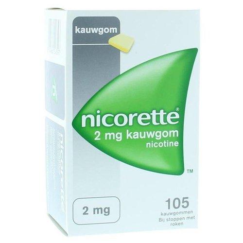 Nicorette Nicorette Kauwgom 2 mg classic (105st)