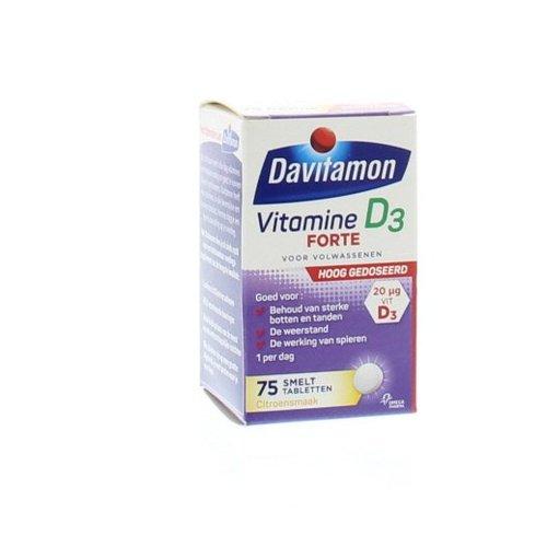 Davitamon Davitamon D3 Forte smelttablet (75tb)