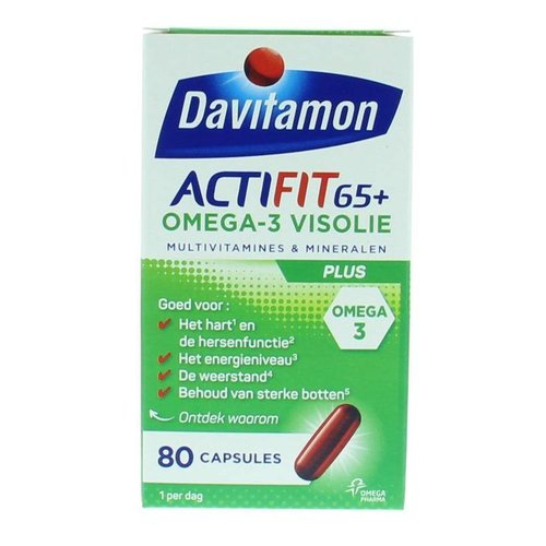 Davitamon Davitamon Actifit 65+ omega 3 (80ca)