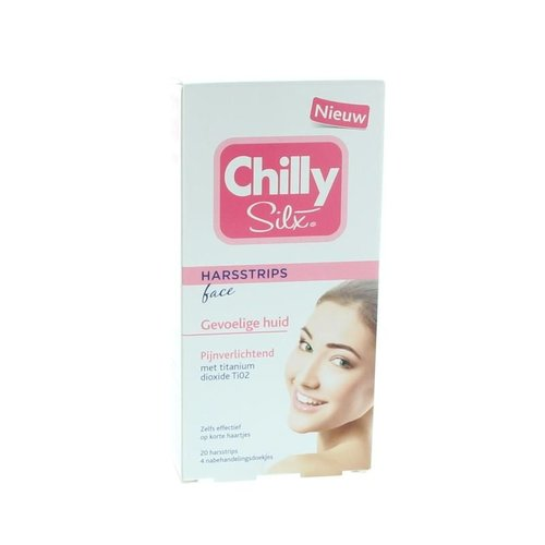 Chilly Silx Chilly Silx Harsstrips gezicht gevoelige huid (20st)