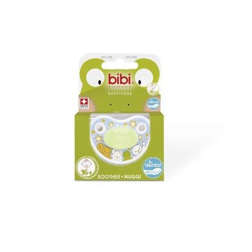 Bibi Bibi Fopspeen happiness glow in the dark 6-16 maanden (1st)