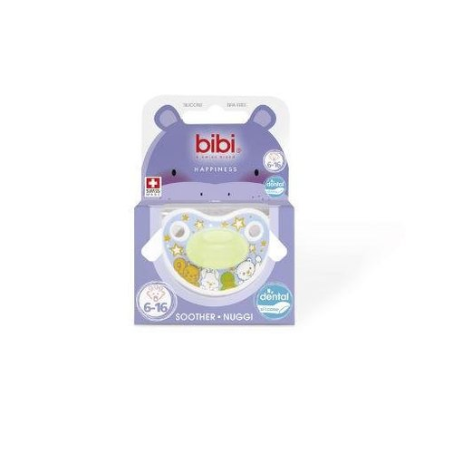 Bibi Bibi Fopspeen happiness glow in the dark 16+ maanden (1st)