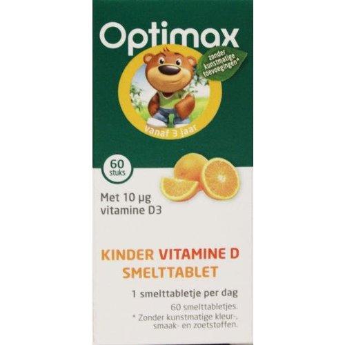 Optimax Optimax Kinder natuurlijk vitamine D smelttablet (60st)
