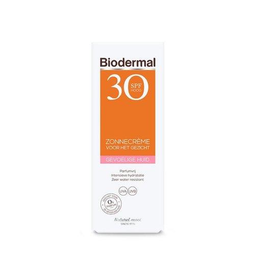 Biodermal Biodermal Zonnecreme gezicht SPF30 gevoelige huid (50ml)