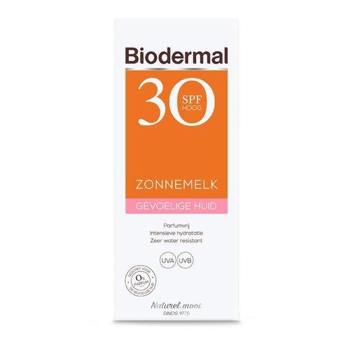 Biodermal Biodermal Zonnemelk SPF30 gevoelige huid (200ml)