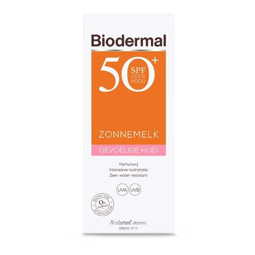 Biodermal Biodermal Zonnemelk SPF50+ gevoelige huid (200ml)