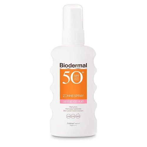 Biodermal Biodermal Zonnespray SPF50+ gevoelige huid (175ml)