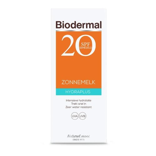 Biodermal Biodermal Hydra plus zonnemelk SPF20 (200ml)