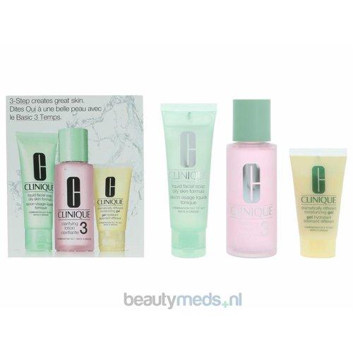 Clinique Clinique 3-Step Introductory Kit Skin Type 3 - Vette huid en combinatie (3stuk)