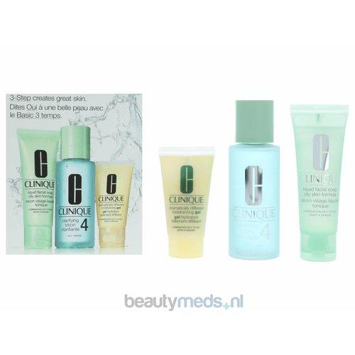Clinique Clinique 3-Step Introductory Kit Skin Type 4 - Vette huid (3stuk)