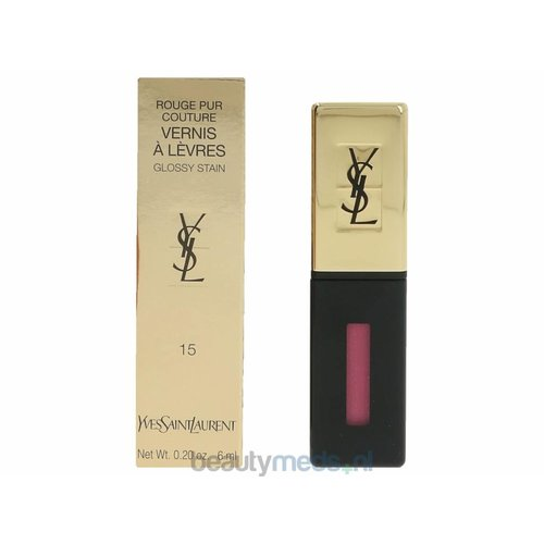 Yves Saint Laurent YSL Rouge Pur Couture Vernis A Levres Glossy Stain (6ml) #15 Rose Glacis