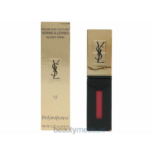 Yves Saint Laurent YSL Rouge Pur Couture Vernis A Levres Glossy Stain (6ml) #12 Corail Acrylic