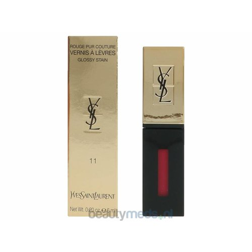 Yves Saint Laurent YSL Rouge Pur Couture Vernis A Levres Glossy Stain (6ml) #11 Rouge Gouache
