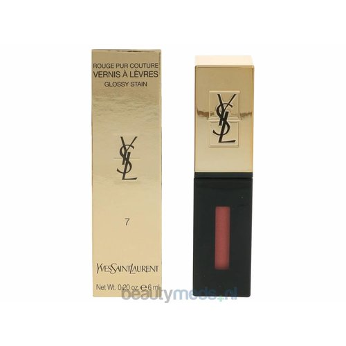 Yves Saint Laurent YSL Rouge Pur Couture Vernis A Levres Glossy Stain (6ml) #07 Corail Aquarelle