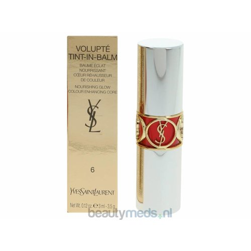 Yves Saint Laurent YSL Volupte Tint-In-Balm  #6 Touch Me Red