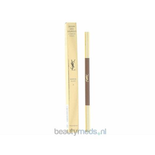 Yves Saint Laurent YSL Dessin Des Sourcils Eyebrow Pencil (1stuk) #03 Glazed Brown/3 Marron Glace