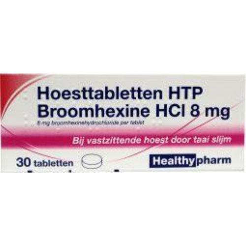 Healthypharm Healthypharm Broomhexine hoest 8 mg (30tb)