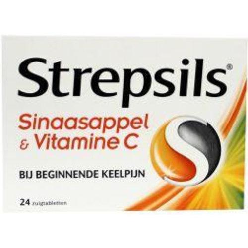 Strepsils Strepsils Sinaasappel / Vitamine C (24zt)