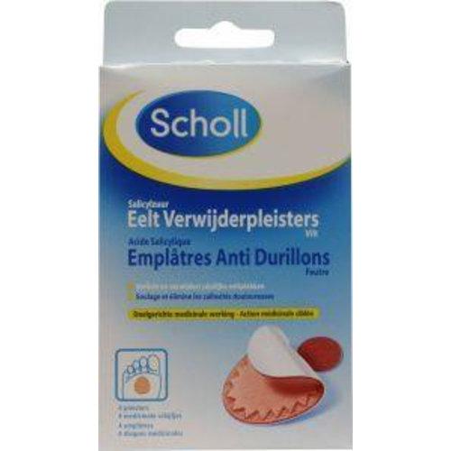 Scholl Scholl Eeltverwijderpleister vilt (4st)