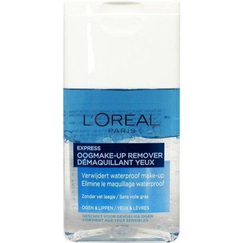 L'Oreal Loreal Express oogmake-up en lipstick remover (125ml)