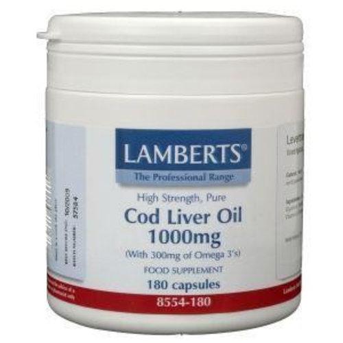 Lamberts Lamberts Levertraan (cod liver oil) 1000 mg (180ca)