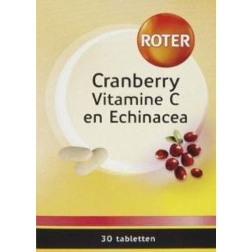 Roter Roter Cranberry vitamine C & echinacea (30tb)