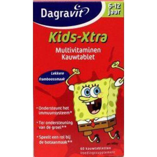 Dagravit Dagravit Multi kids framboos 6-12 jaar (60kt)