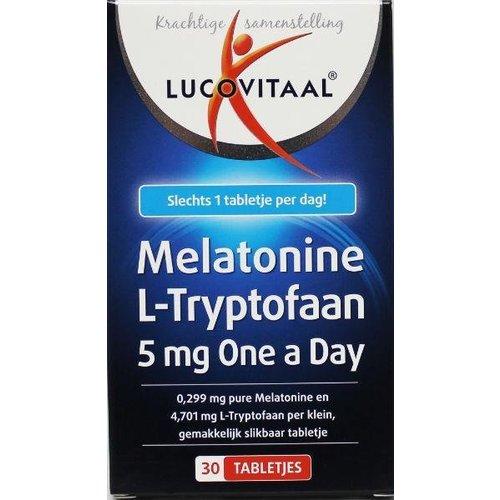 Lucovitaal Lucovitaal Melatonine L-tryptofaan 5 mg (30tb)
