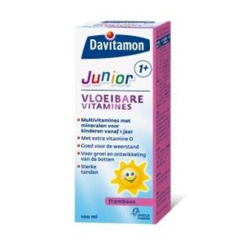 Davitamon Junior 1+ vloeibare vitamines framboos (100ml)