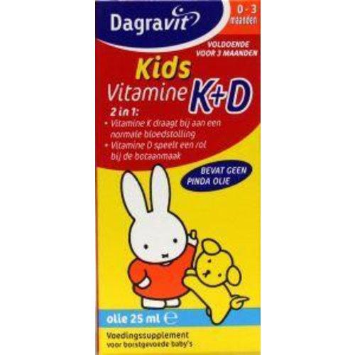Dagravit Dagravit Vitamine K+D druppels (25ml)