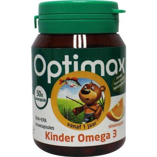 Optimax Optimax Kinder omega 3 sinaasappel (50kca)