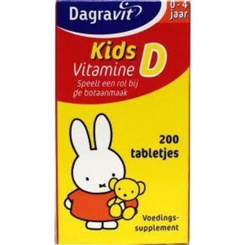 Dagravit Dagravit Vitamine D tablet kids (200st)