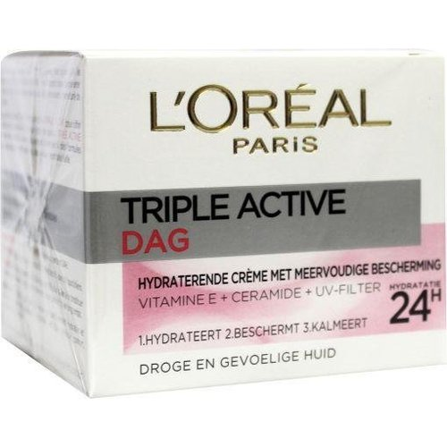 L'Oreal Loreal Dermo expertise triple active droog/gev dagcreme (50ml)