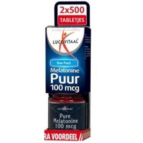 Lucovitaal Lucovitaal Melatonine duo 0.1 mg 2 x 500 tabletten (2x500t)