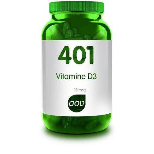 AOV 401 Vitamine D3 (Cholecalciferol) 10 mcg (60ca)