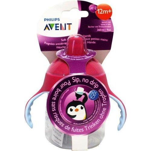 Avent Avent Tuitbeker pinguin 12 maand+ roze (260ml)