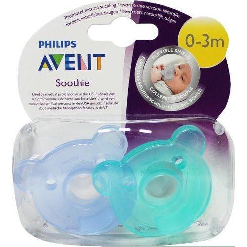 Avent Avent Soothie fopspeen kalmerend 0-3 maanden SCF194/00 (2st)
