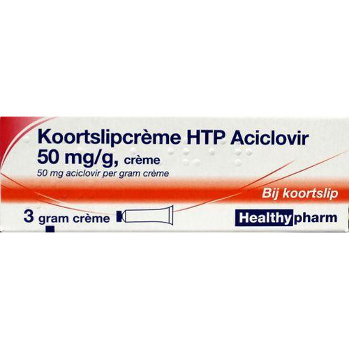 Healthypharm Healthypharm Koortslip creme aciclovir (3g)